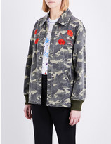 Opening Ceremony Tiger-embroidered denim jacket