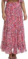 Saloni Andie Skirt In Dobby Georgette Coral Medow