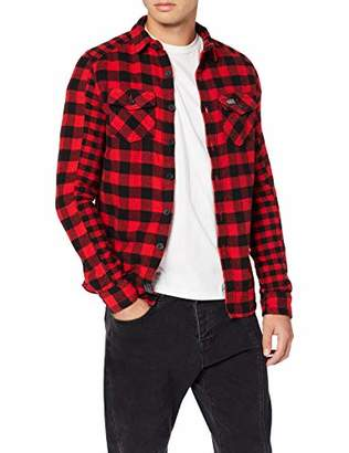 Superdry Men's Buffalo Flannel L/s Shirt Casual (Red Check 33j), (Size: X-Small)