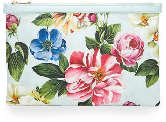 Dolce & Gabbana Floral Printed Nylon Pouch Bag
