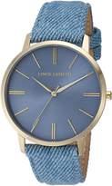Vince Camuto Women's VC/5322LBLD Gold-Tone and Light Blue Denim Strap Watch