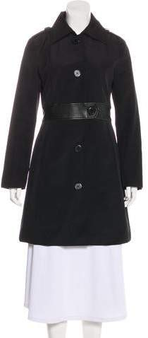 Andrew Marc Long Sleeve Knee-Length Coat