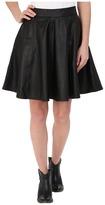 Stetson Black Lamb Leather Circle Skirt