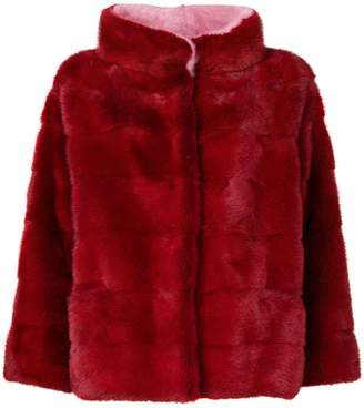 Simonetta Ravizza funnel neck fur jacket