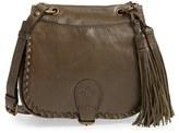 Patricia Nash 'Small Karisa' Leather Crossbody Saddle Bag - Green