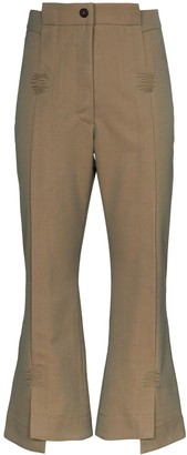 Delada Flared Cropped Trousers