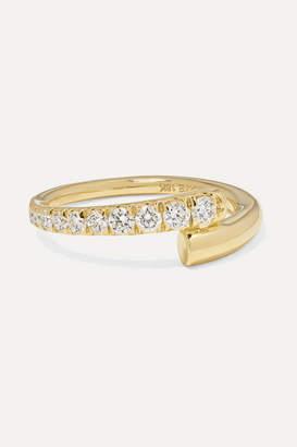 Melissa Kaye Lola 18-karat Gold Diamond Pinky Ring