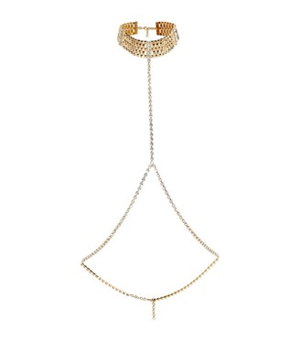 Alessandra Rich Crystal-Embellished Body Chain