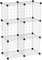 Honey-Can-Do Modular Mesh Storage Cubes, 6 Pack