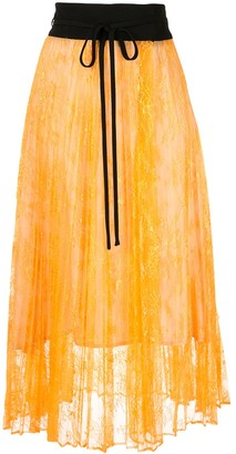Mame Kurogouchi Pleated Midi Skirt