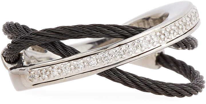 Alor Layered Triple-Band Diamond Ring, Size 6.5