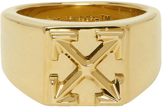 Off-White Gold Arrow Ring