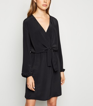 New Look JDY Tie Front Wrap Dress