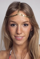 House of Harlow - Brass Coin 3 Strand Head Piece, Brass