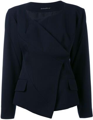 Yohji Yamamoto Pre-Owned collarless deconstructed jacket