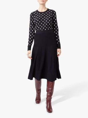 Hobbs Ana Knitted Skirt, Navy