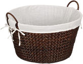 Household Essentials Round Banana Leaf Laundry Basket