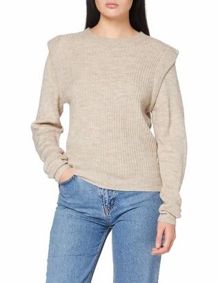 Vila Women's VIESHA Knit Shoulder L/S TOP Sweater