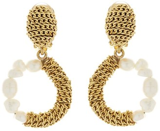 Oscar de la Renta Chain and Pearl Earrings