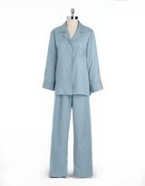 Miss Elaine Two-Piece Jacquard Pajama Set