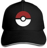 Christina Pokeball Poke-mon CA Men's Contrast Baseball Cap Sandwich Peak