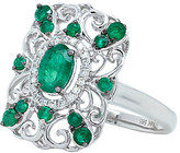 Diana M Fine Jewelry 14K 0.80 Ct. Tw. Diamond & Emerald Ring