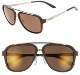 Carrera Men's Eyewear 57Mm Navigator Sunglasses - Brown/ Brown Gold Mirror