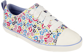 John Lewis Children's Paige Floral Laced Trainers, Multi