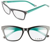 L.A.M.B. Women's 51Mm Optical Geometric Glasses - Black