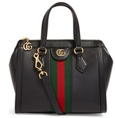 Gucci Small Leather Ophidia Top-Handle Tote Bag