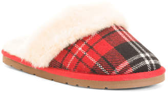 Georgia Faux Fur Lined Slippers