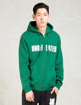 Undefeated Green Split Zip Hoodie