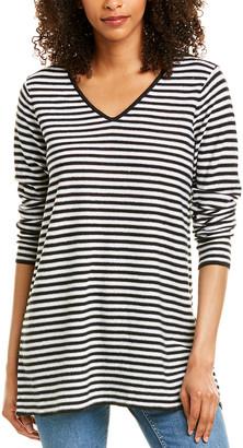 Eileen Fisher V-Neck Linen-Blend Tunic