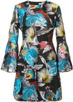 Mary Katrantzou ligretto feather mini dress