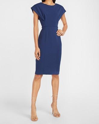 Express Cap Sleeve V-Back Sheath Dress