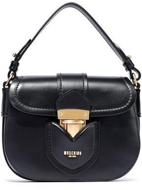 Moschino Hidden Lock Leather Shoulder Bag