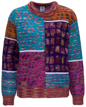 M Missoni Patchwork Sweater In Jacquard Mohair