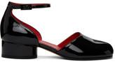 Maison Margiela Black Patent Tabi Ankle Strap Heels