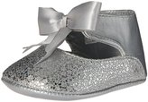 Baby Deer Girls' Metallic Ankle Strap with Bow Slip-On