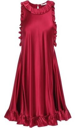 Les Rêveries Ruffle-trimmed Silk-satin Mini Dress
