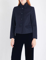 Armani Collezioni Frill neck jacket