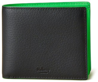 Mulberry 8 Card Coin Wallet Black Heavy Grain