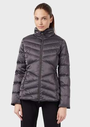 Emporio Armani Ea7 Windproof, Shiny Fabric Down Jacket