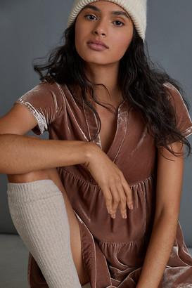 Anthropologie Harper Velvet Tunic Dress By in Beige Size S