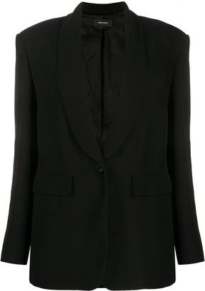 Isabel Marant Shawl-Lapel Single-Breasted Blazer