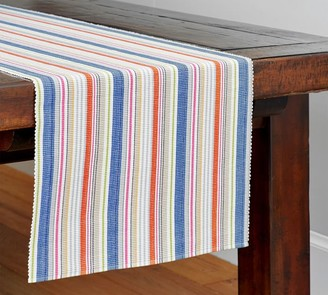 Abstract Table Runner Midnight At The Lily Pond by susaninparis Lily Pond  Stripes Floral  Cotton Sateen Table Runner by Spoonflower