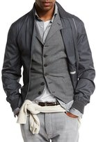Brunello Cucinelli Wool-Blend Zip Bomber Jacket