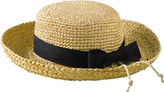 San Diego Hat Company Women's Raffia Hat Crochet Crown RHL9