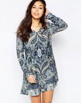 Vila Multi Print Shift Dress