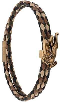 Etro Woven Leather Bracelet